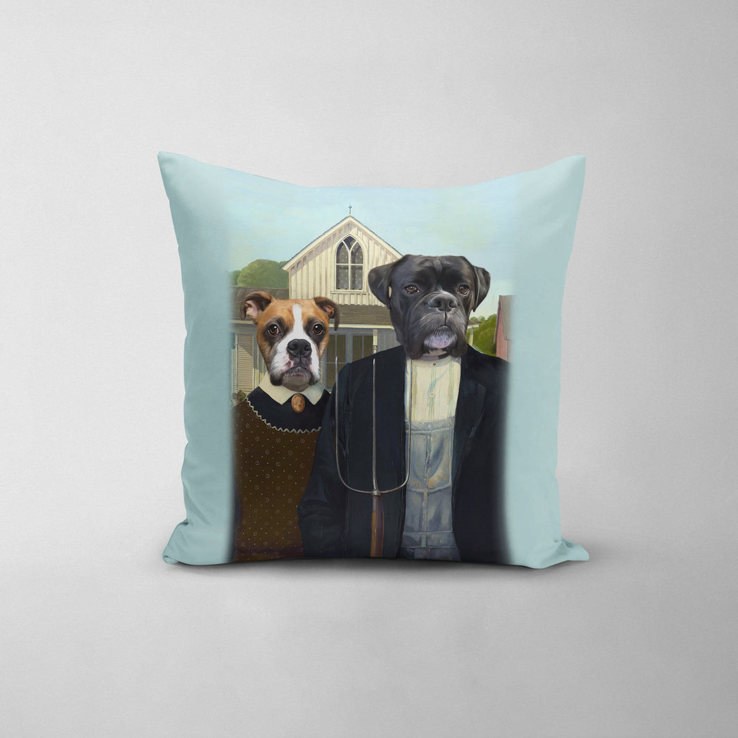 The American Gothic - Custom Throw Pillow
