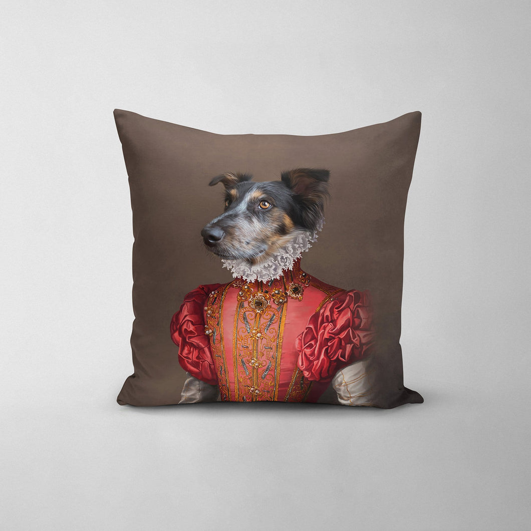 The Red Rose - Custom Throw Pillow