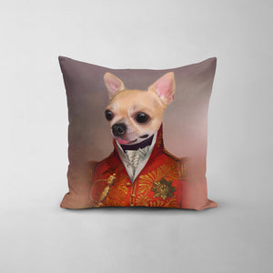 The Red General - Custom Throw Pillow