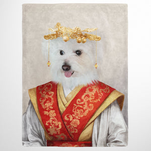 The Asian Empress - Custom Pet Blanket