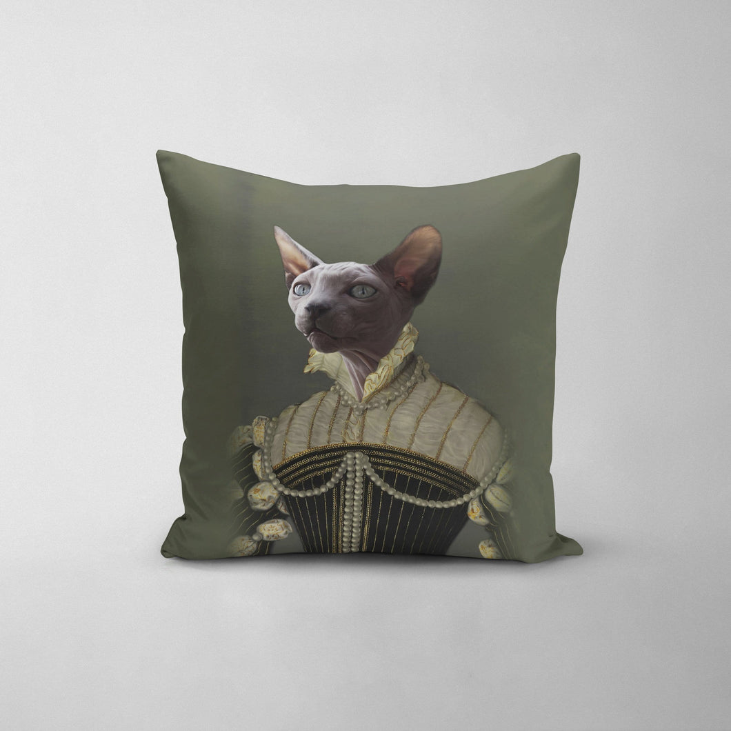 The Pearled Lady - Custom Throw Pillow
