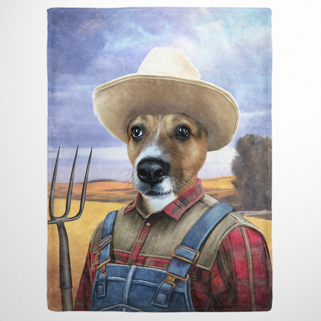 The Farmer - Custom Pet Blanket