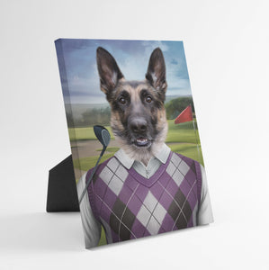 The Golfer - Custom Standing Canvas