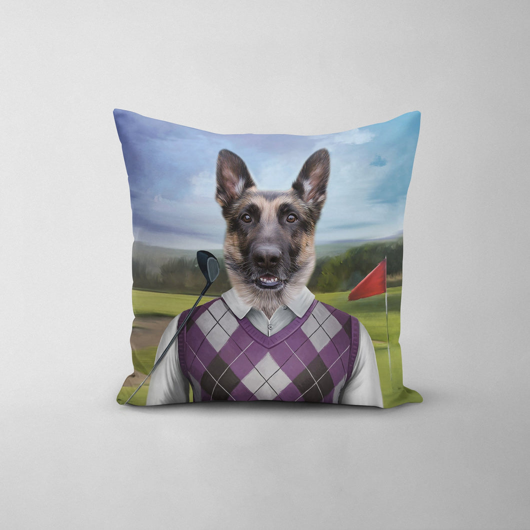 The Golfer - Custom Throw Pillow