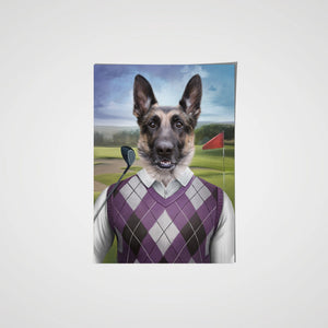 The Golfer - Custom Pet Poster