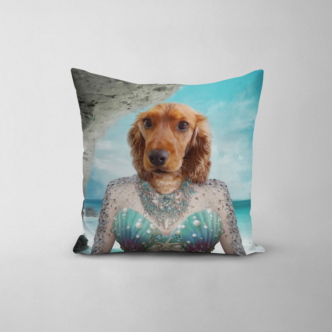 The Mermaid - Custom Throw Pillow