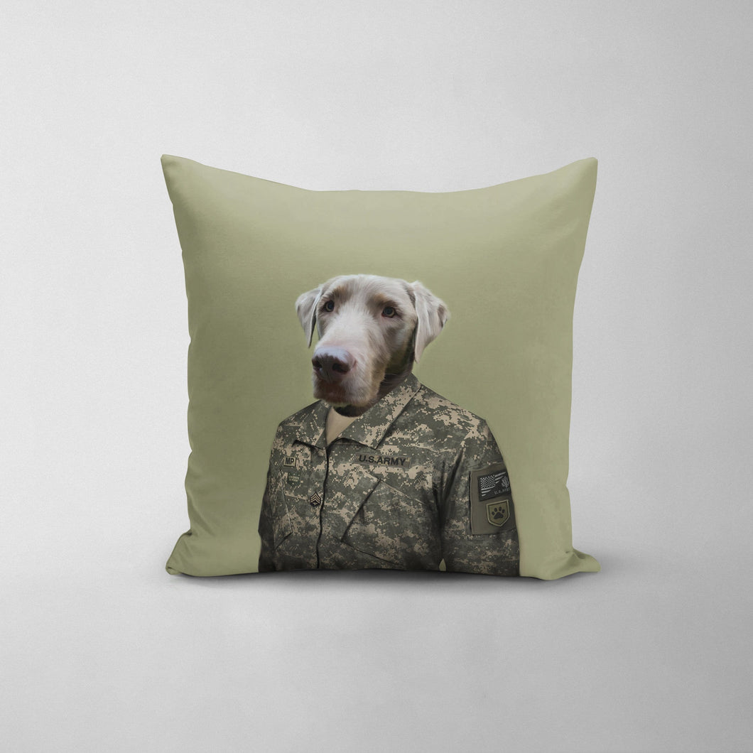 The Army Man - Custom Throw Pillow