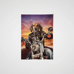 The Biker - Custom Pet Poster