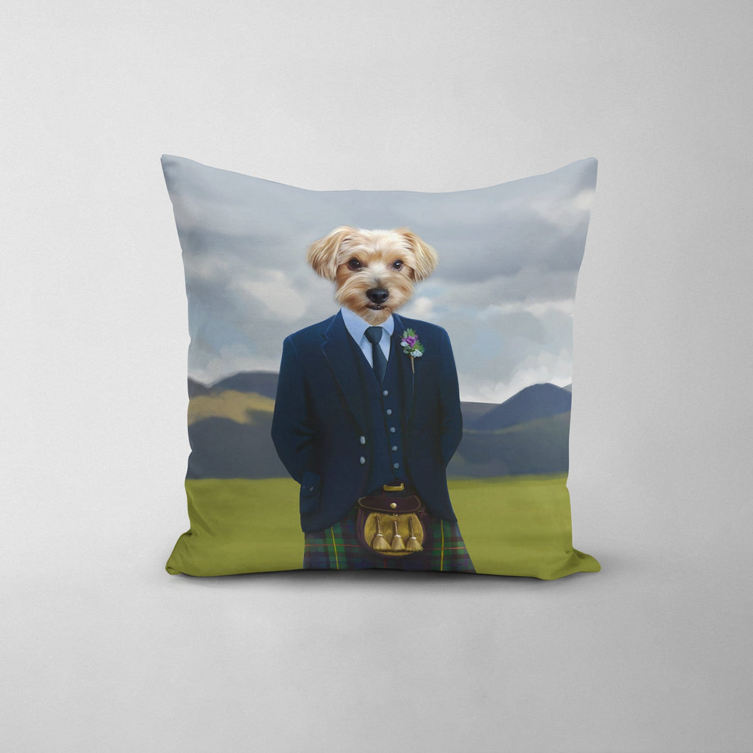 The Scottish Highlander - Custom Throw Pillow
