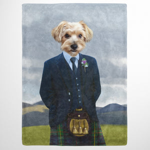 The Scottish Highlander - Custom Pet Blanket