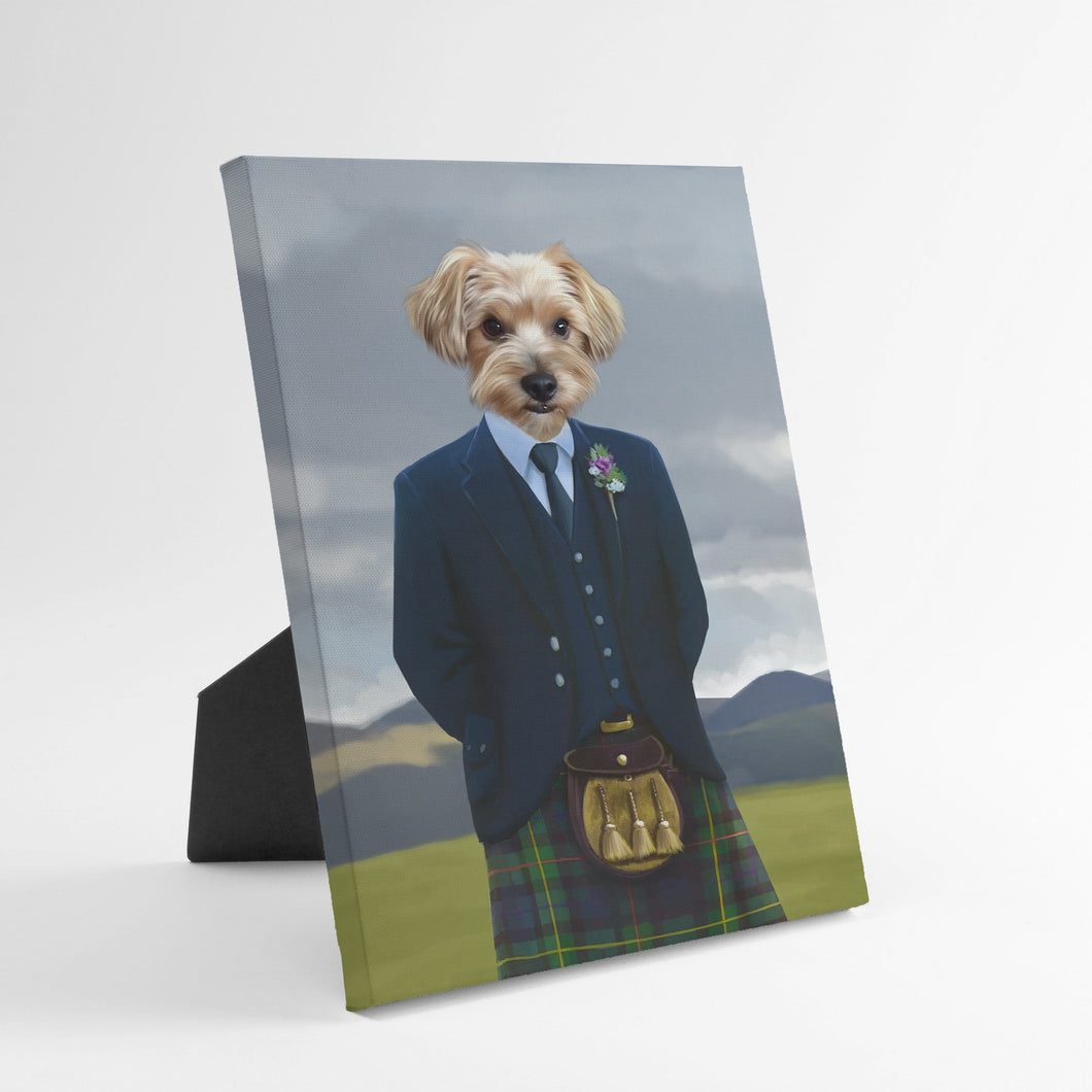 The Scottish Highlander - Custom Standing Canvas