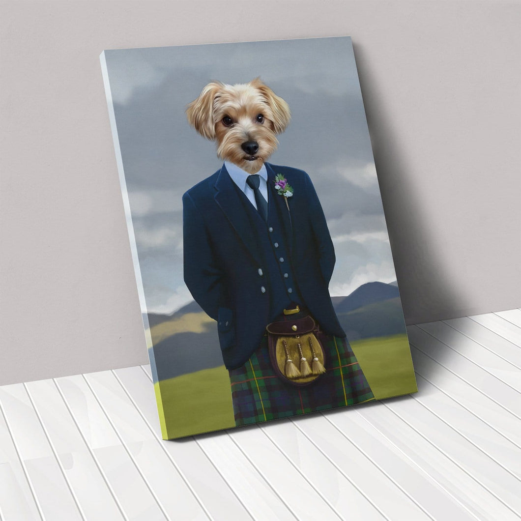 The Scottish Highlander - Custom Pet Canvas