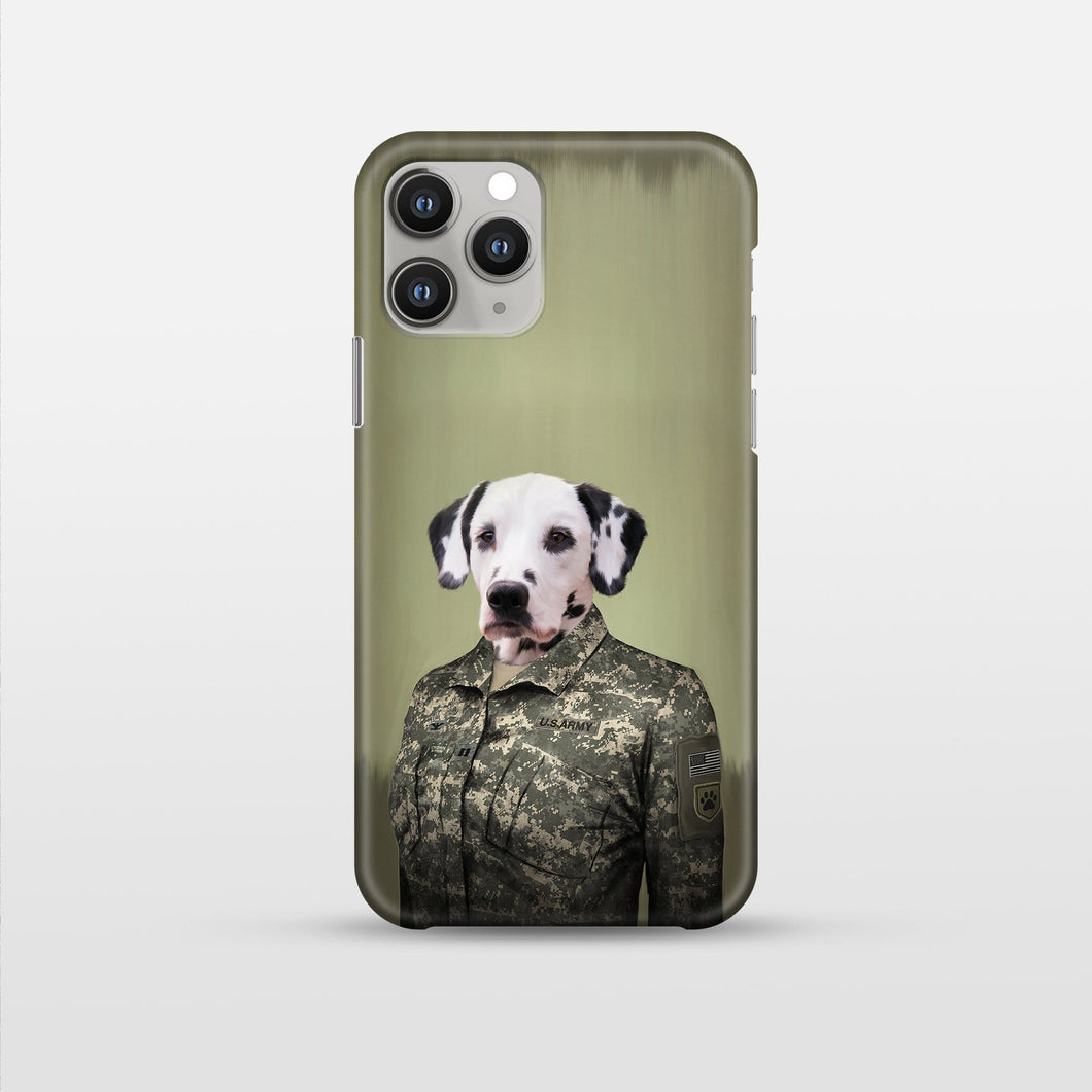 The Army Woman - Custom Pet Phone Case