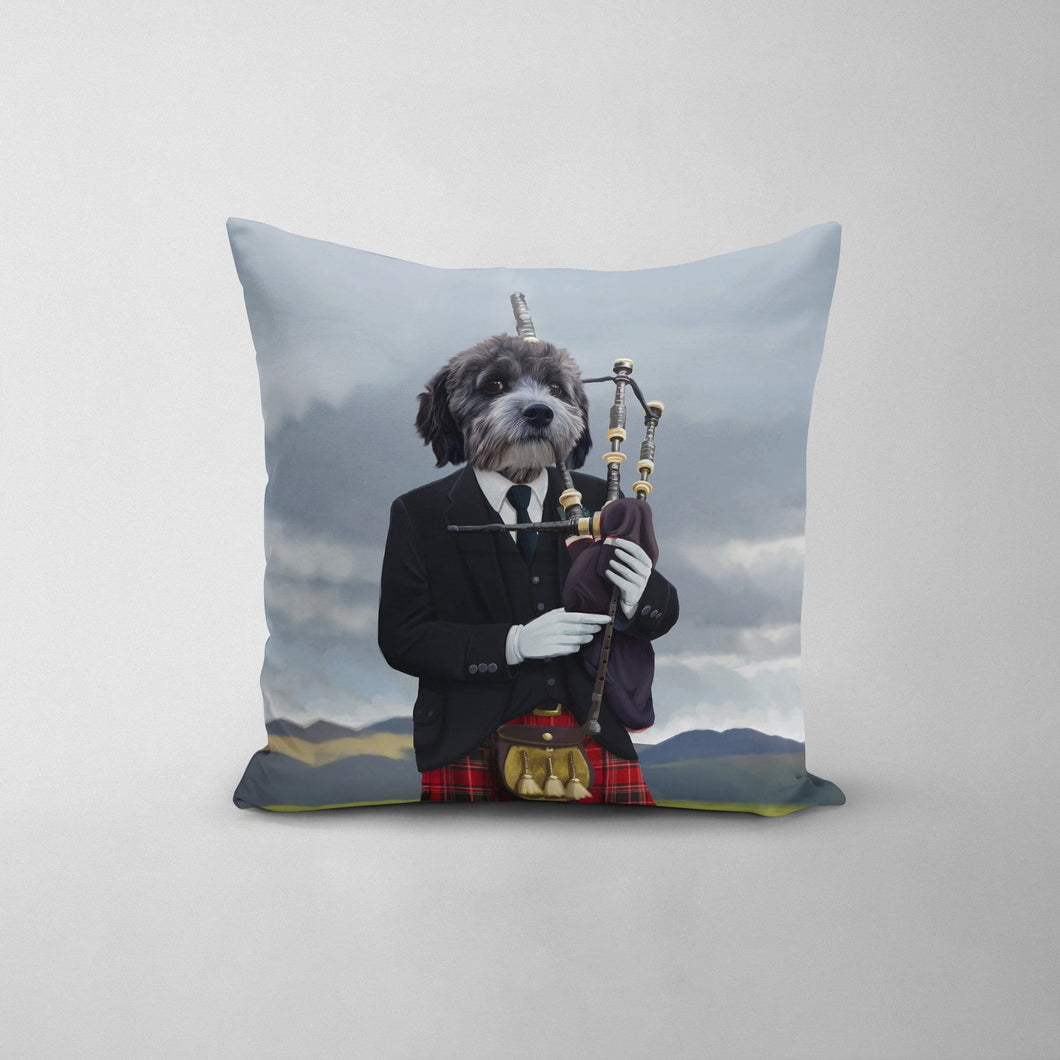 The Bagpiper - Custom Throw Pillow