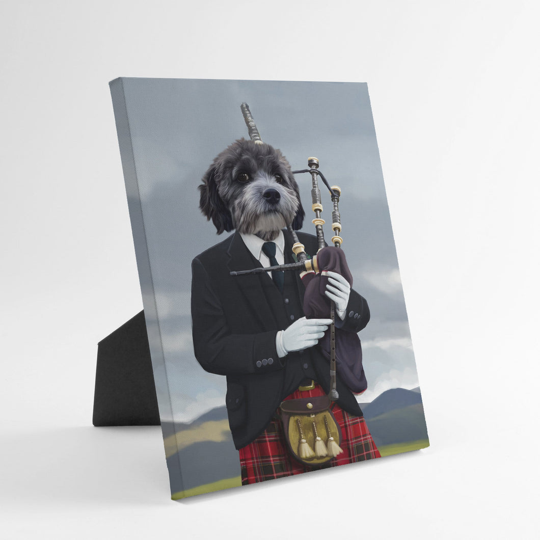 The Bagpiper - Custom Standing Canvas