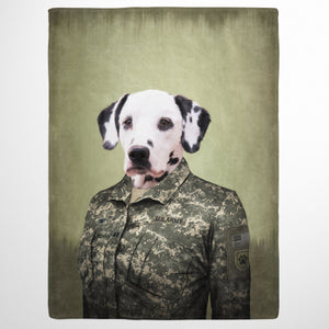 The Army Woman - Custom Pet Blanket
