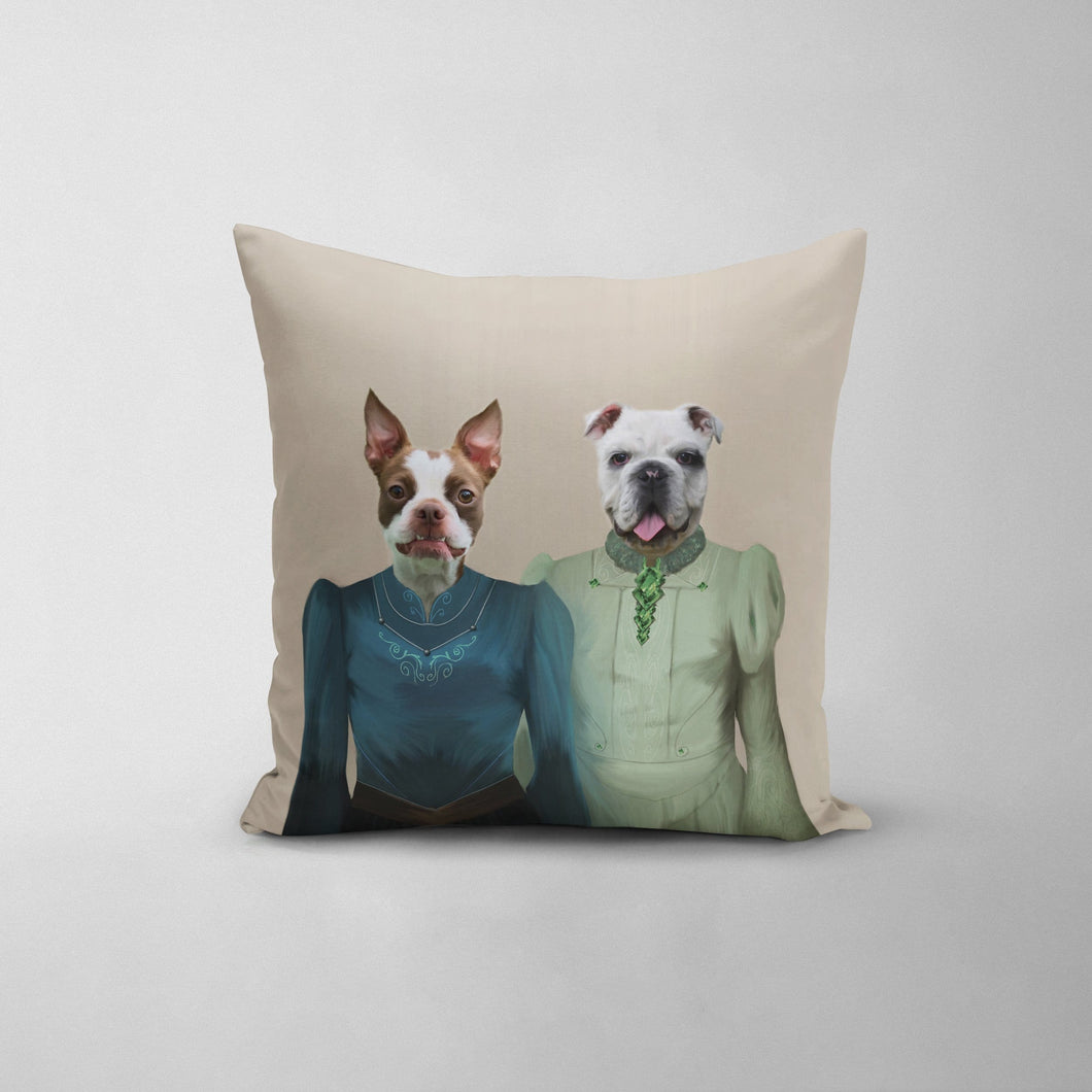 The Little Ladies - Custom Throw Pillow