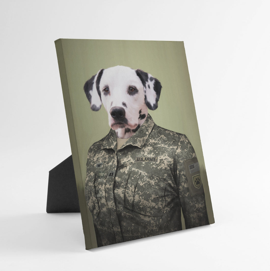 The Army Woman - Custom Standing Canvas
