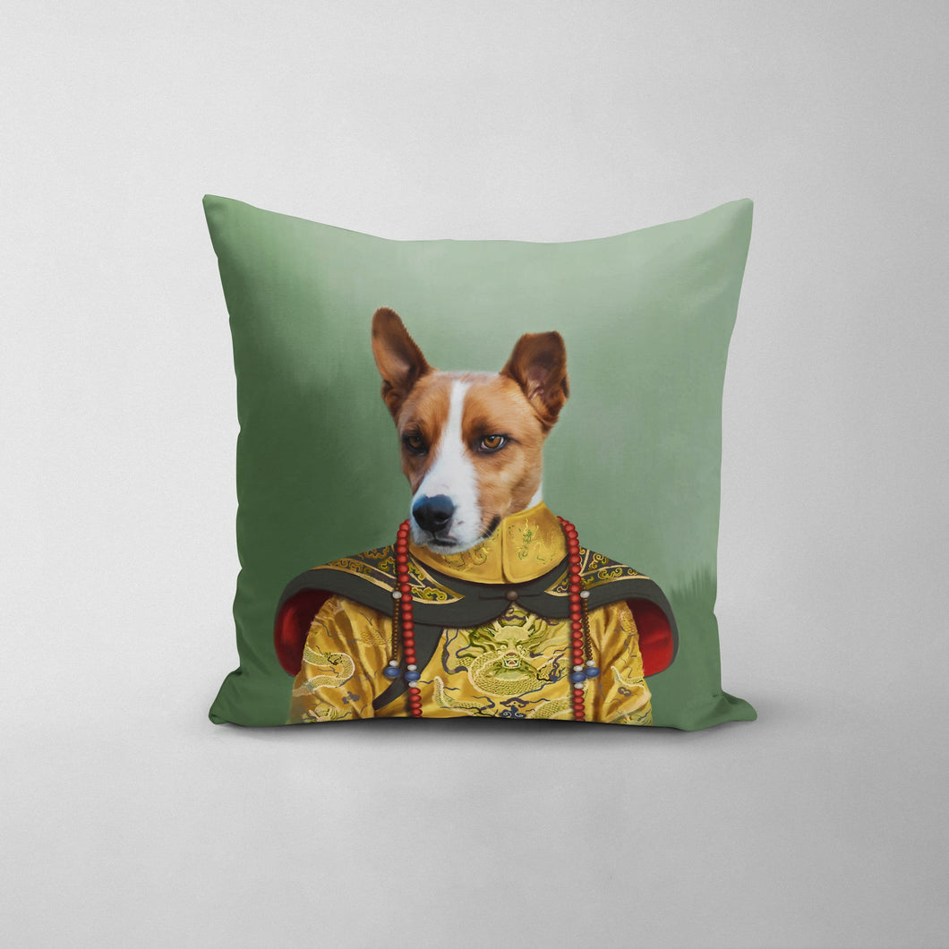 The Chinese Emperor - Custom Throw Pillow