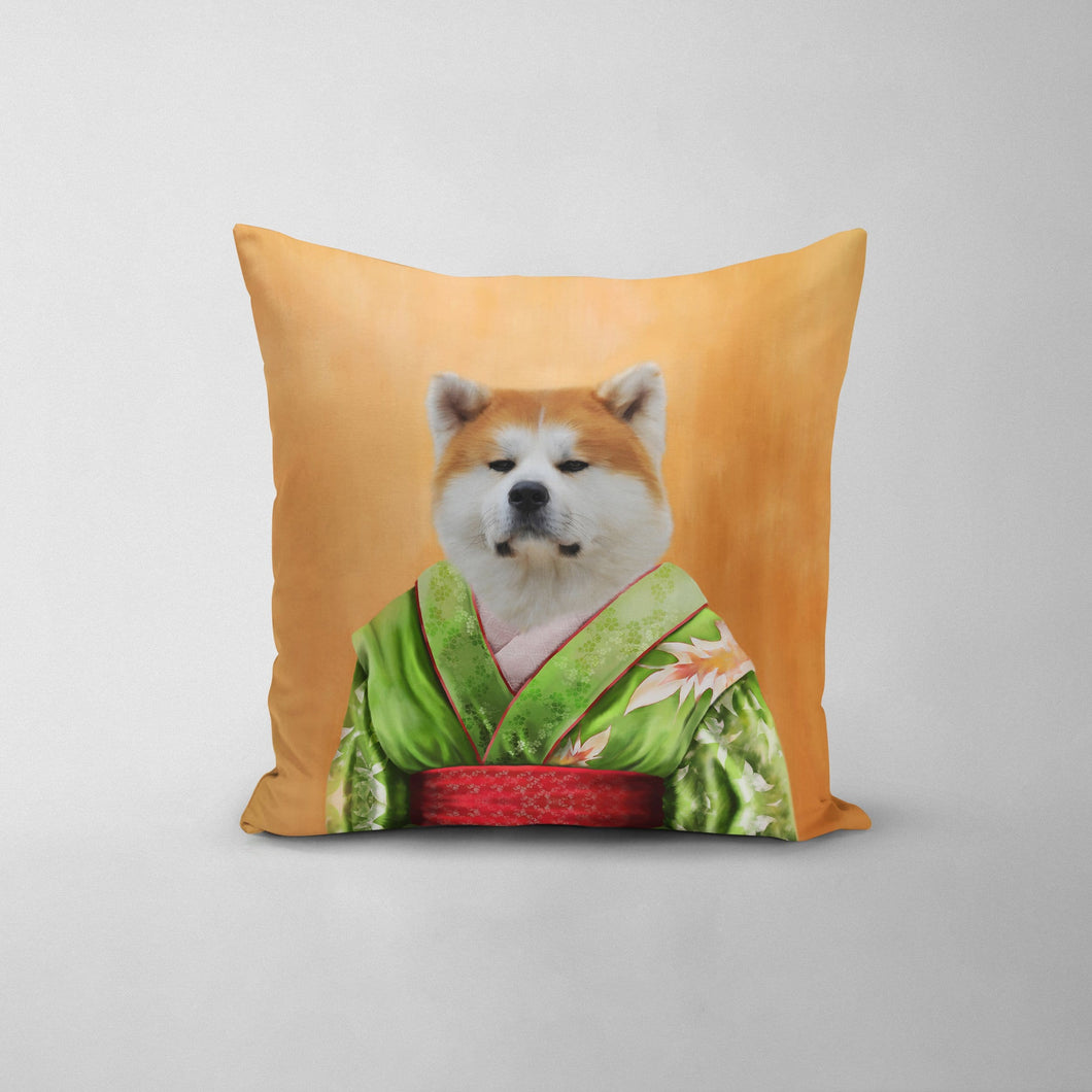 The Geisha - Custom Throw Pillow
