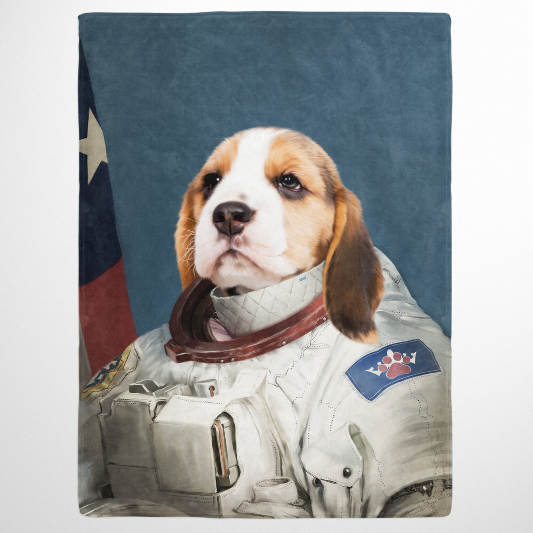 The Astronaut Custom Pet Pet Blanket Crown And Paw Crown Paw