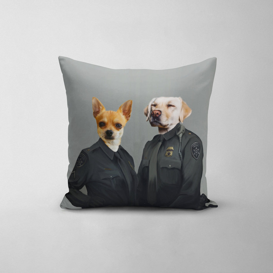 The Officers - Custom Throw Pillow