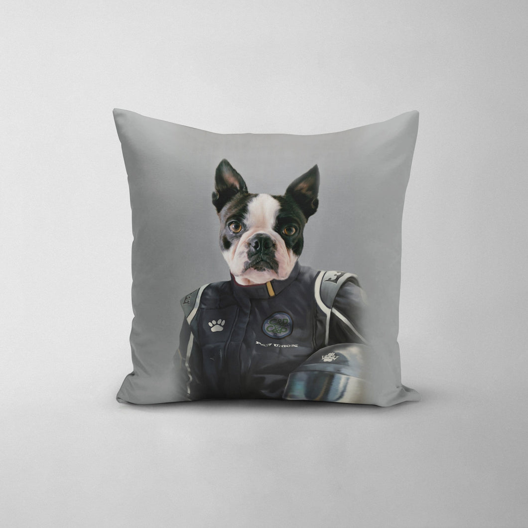 The Race Car Driver - Custom Throw Pillow