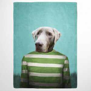 The Green Candy Cane - Custom Pet Blanket