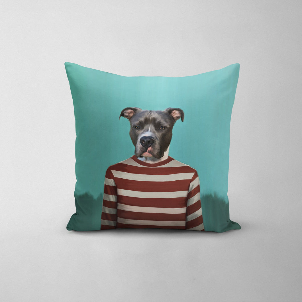 Red Candy Cane - Custom Throw Pillow