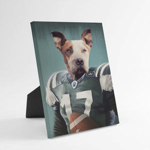 The Football Player - Custom Standing Canvas