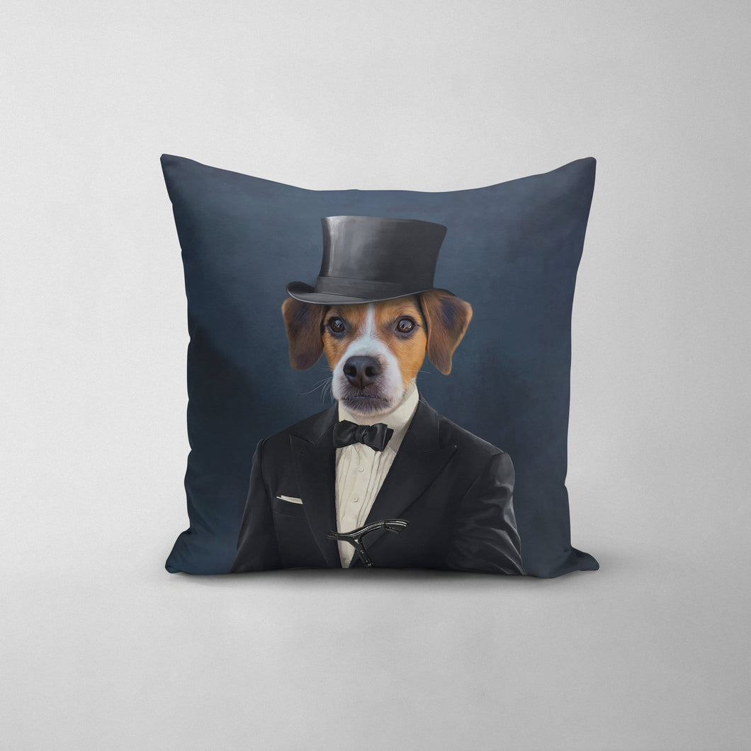 The Gentleman - Custom Throw Pillow