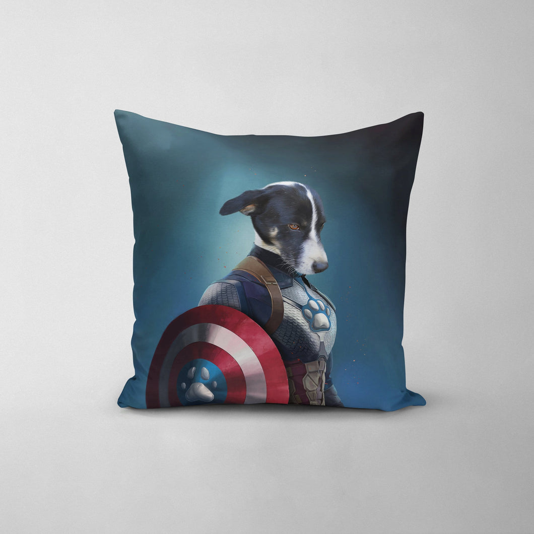 Captain Pawmerica - Custom Throw Pillow