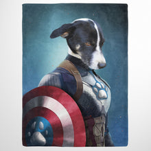 Load image into Gallery viewer, Captain Pawmerica - Custom Pet Blanket