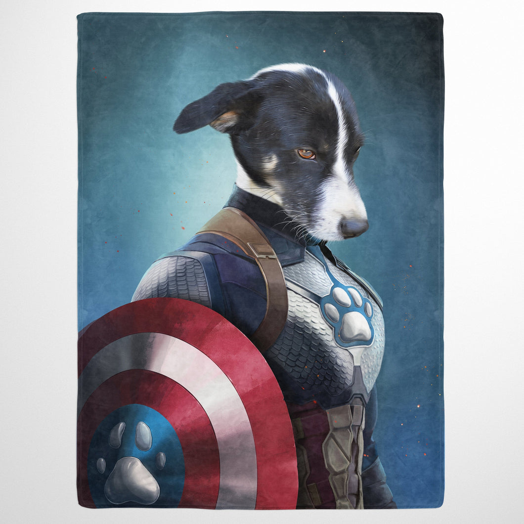 Captain Pawmerica - Custom Pet Blanket