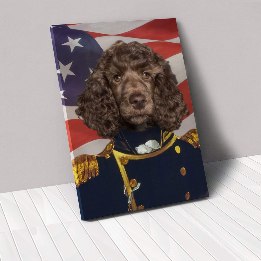 The Admiral - USA Flag Edition - Custom Pet Canvas