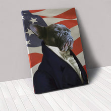 Load image into Gallery viewer, The Ambassador - USA Flag Edition - Custom Pet Canvas