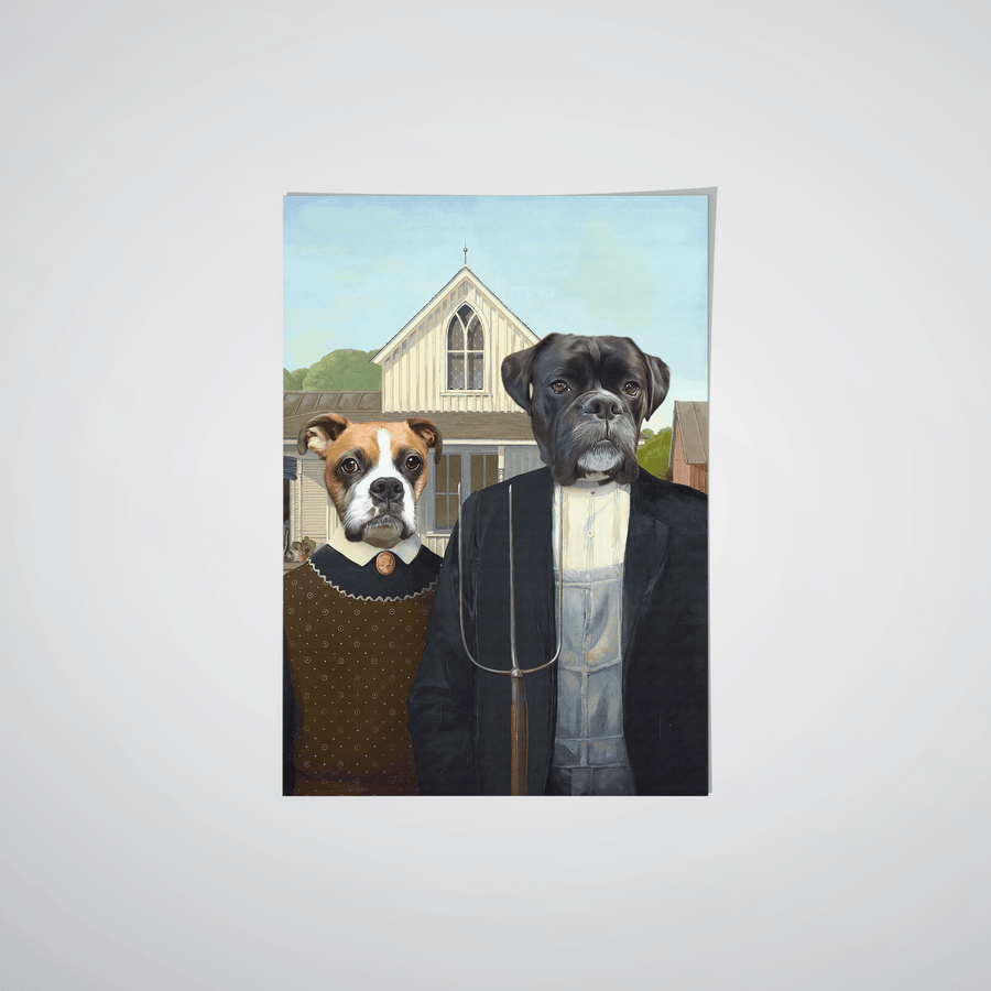 The American Gothic - Custom Pet Poster