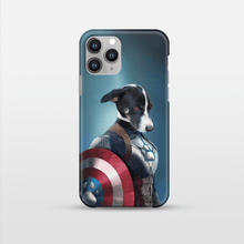 Load image into Gallery viewer, Captain Pawmerica - Custom Pet Phone Case