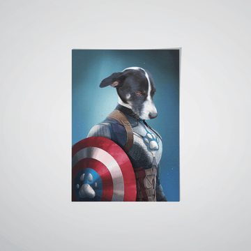 Captain Pawmerica - Custom Pet Poster