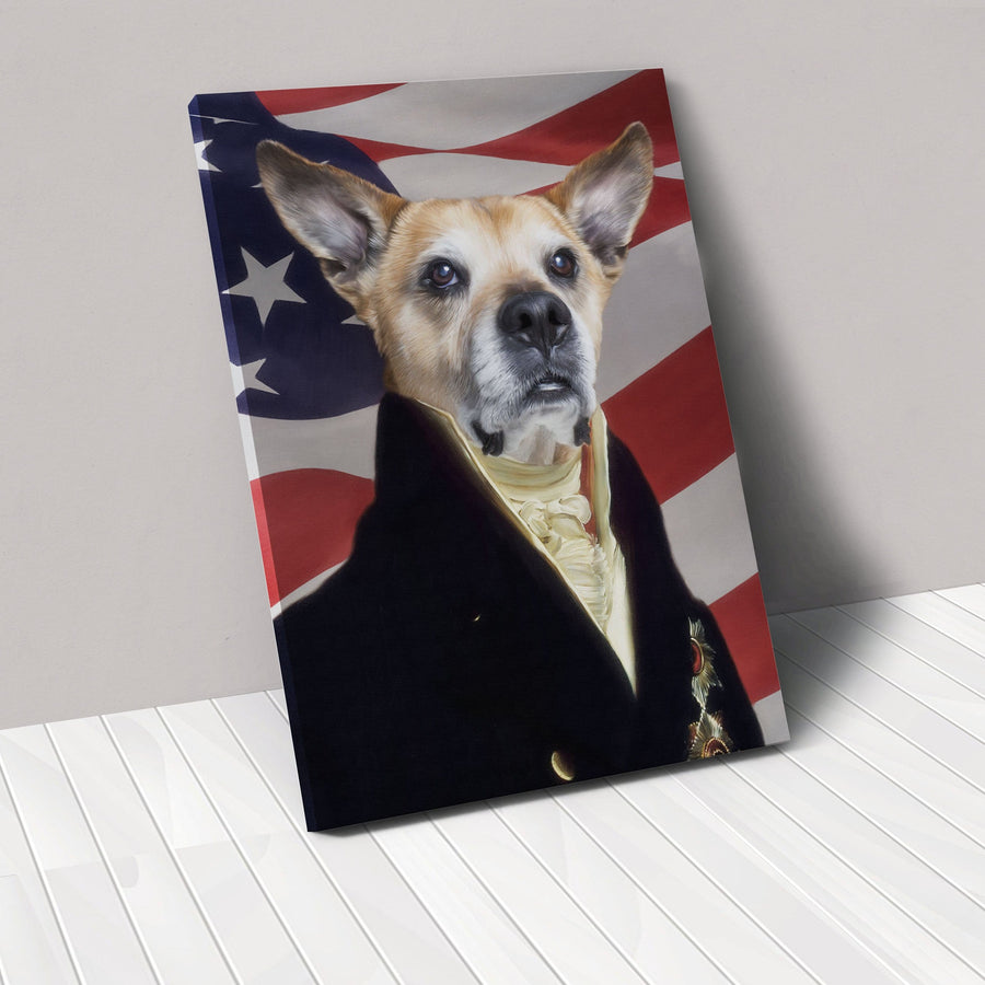 3991cc629400 The Count USA Edition | Custom Pet Canvas | Crown And Paw – Crown & Paw