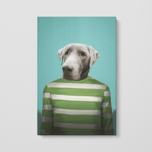 Load image into Gallery viewer, The Green Candy Cane - Custom Pet Canvas
