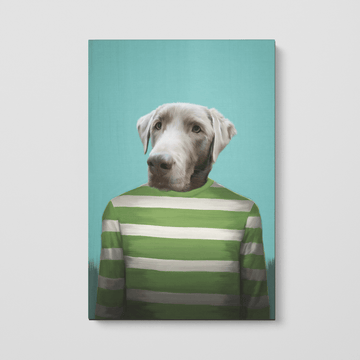 Green Candy Cane - Custom Pet Canvas