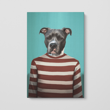 Red Candy Cane - Custom Pet Canvas