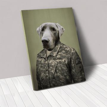 The Army Man - Custom Pet Canvas