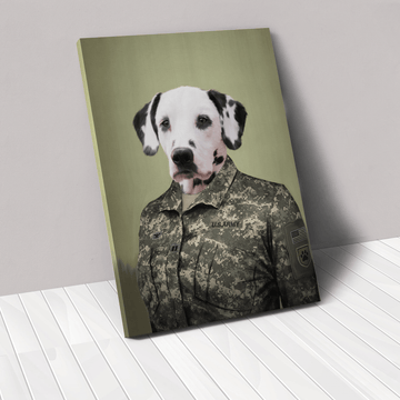 The Army Woman - Custom Pet Canvas