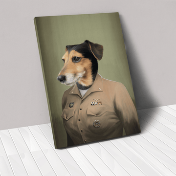 The Female Naval Officer - Custom Pet Canvas