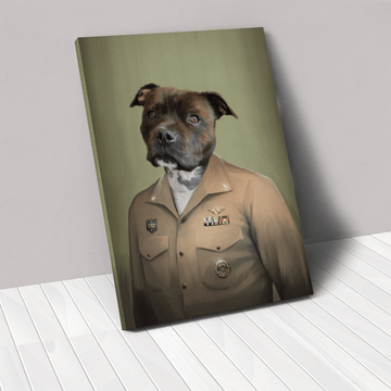 The Male Naval Officer - Custom Pet Canvas