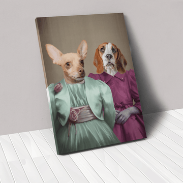 The Sisters - Custom Pet Canvas