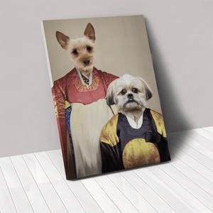 The Wise Pair - Custom Pet Canvas