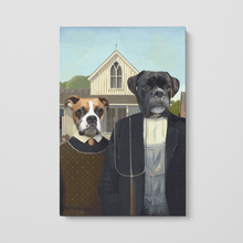 Load image into Gallery viewer, The American Gothic - Custom Pet Canvas